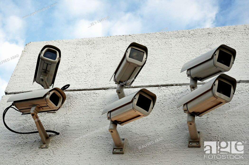 Stock Photo: security cameras.