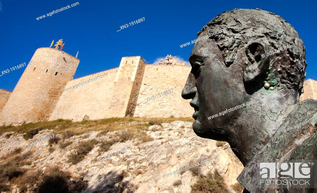 Stock Photo: Monument to the horses of the wine, castle of Real Alcázar de la Vera Cruz, Caravaca de la Cruz, Murcia province, Spain, Europe.