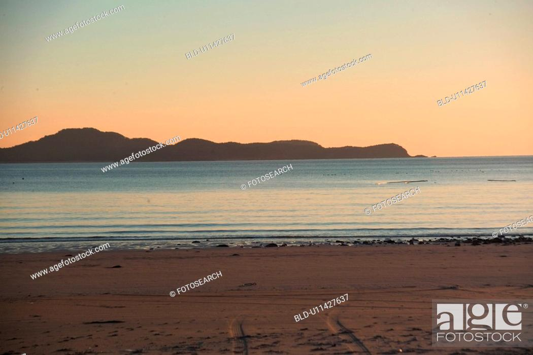 Stock Photo: beach, scenery, ocean, sea, landscape, sky.