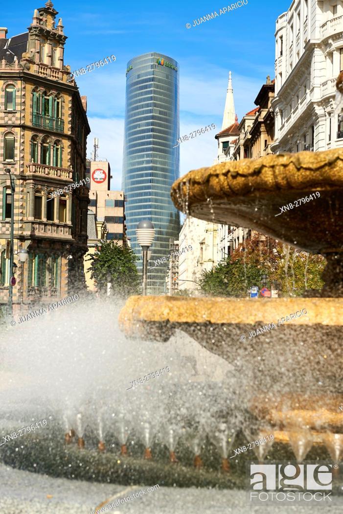 Stock Photo: Iberdrola Tower, Bilbao, Biscay, Basque Country, Euskadi, Euskal Herria, Spain, Europe.