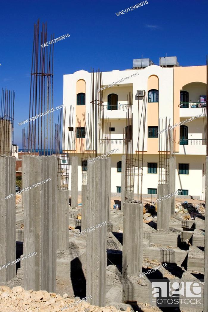 Stock Photo: Building, Building Exterior, Building Structure, Cement, Column.