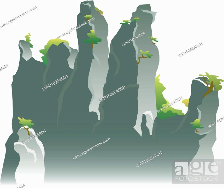 Stock Photo: scenery, cliff, landscape, mountain.