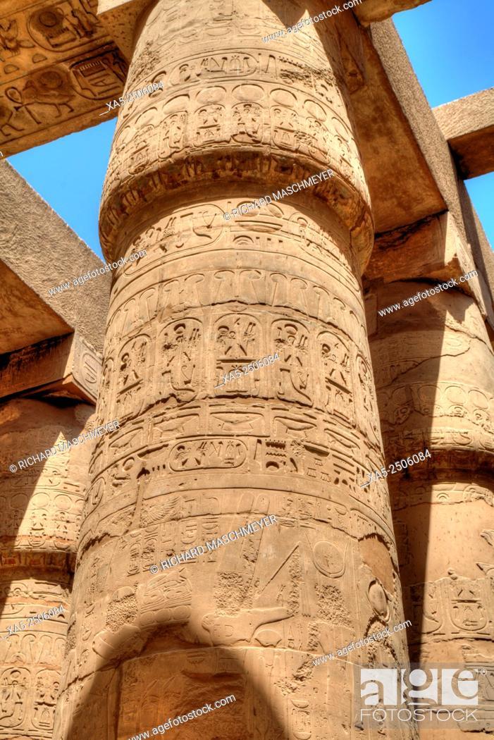 Imagen: Columns in the Great Hypostyle Hall, Karnak Temple, Luxor, Egypt.
