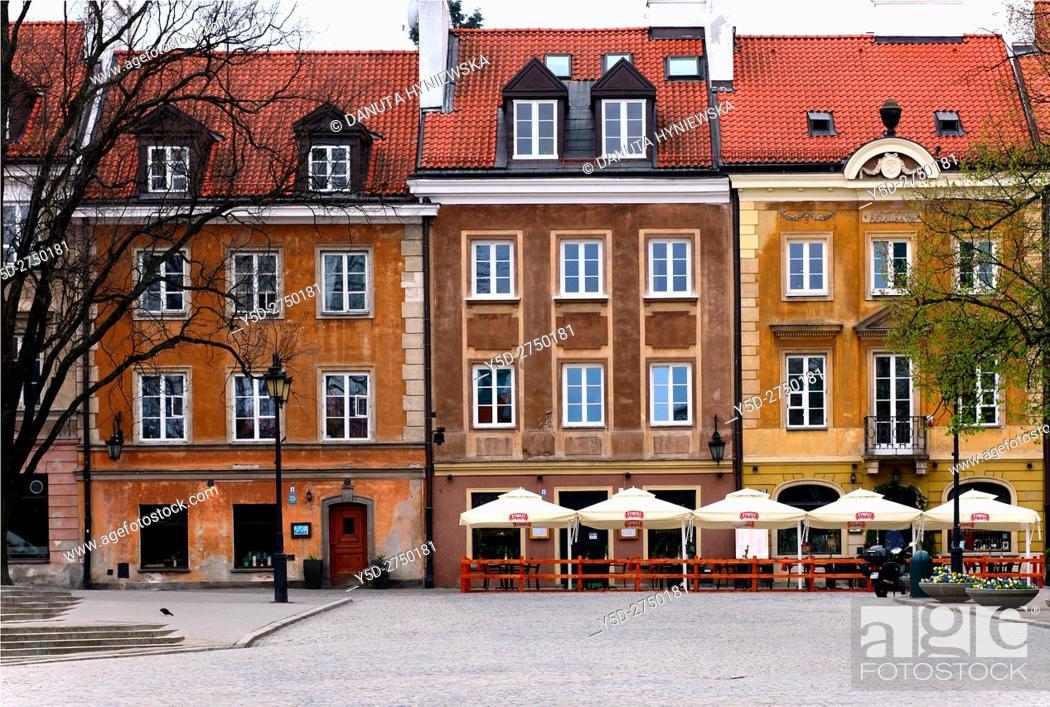 Stock Photo: Residential buildings, Rynek Nowego Miasta, New Town Market Place, New Town , Nowe Miasto, Warsaw, Poland, Europe.