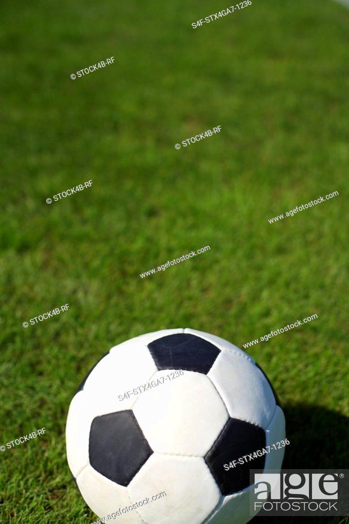 Stock Photo: Ball on grass.
