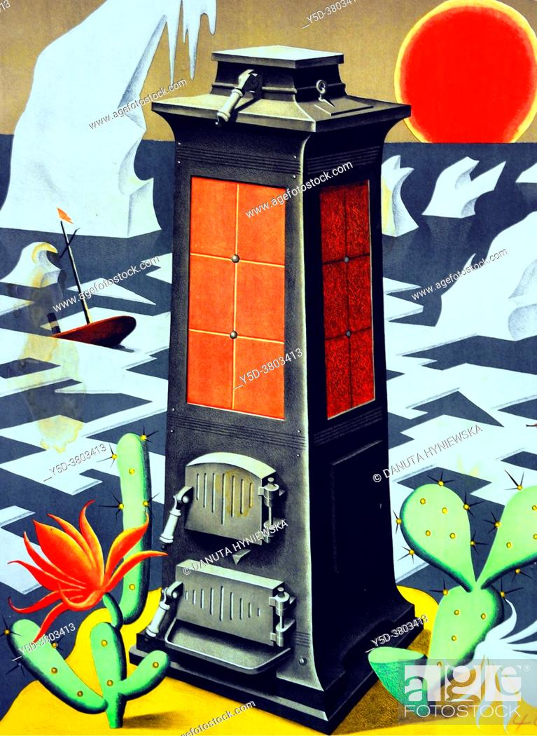 Imagen: In 1925 the great Swiss poster artist Niklaus Stoecklin (1896 - 1982) humorously anticipated in promotion of Eskimo heating stove.