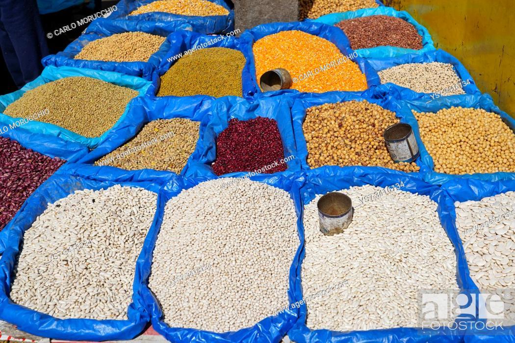 Stock Photo: Food market close to Gare Soarano train station, Antananarivo, Madagascar.