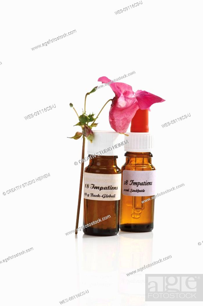 Stock Photo: Bottles with Bach Flower Stock Remedy.