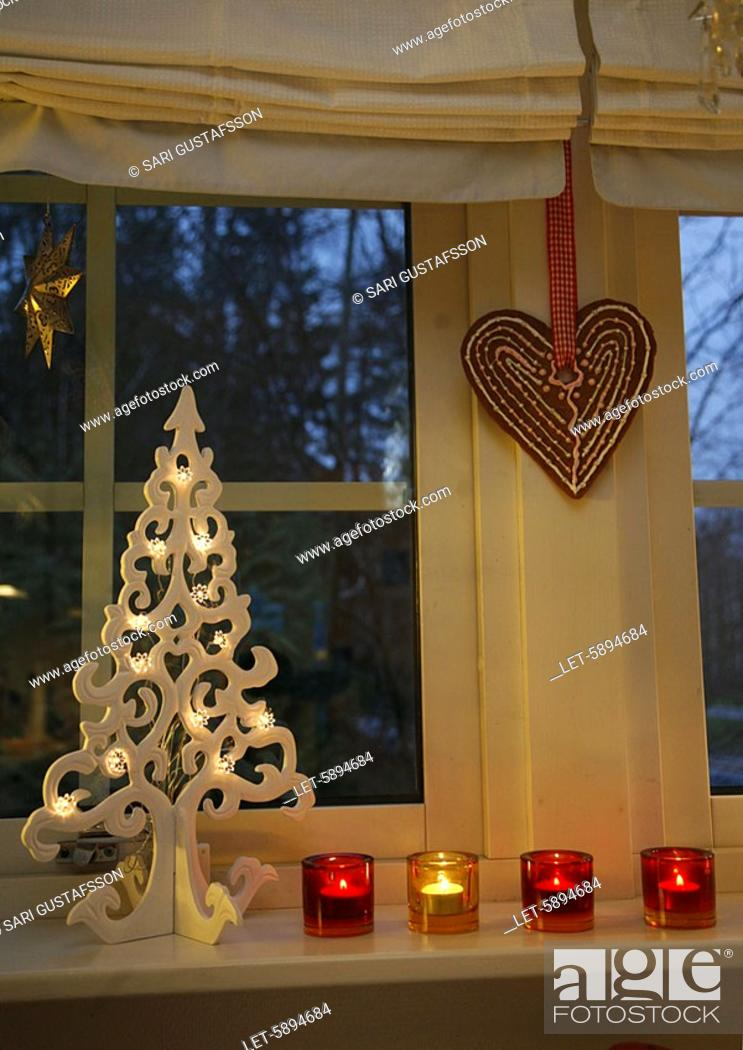 Finland Christmas Decorations.Christmas Decorations Espoo Finland Stock Photo Picture