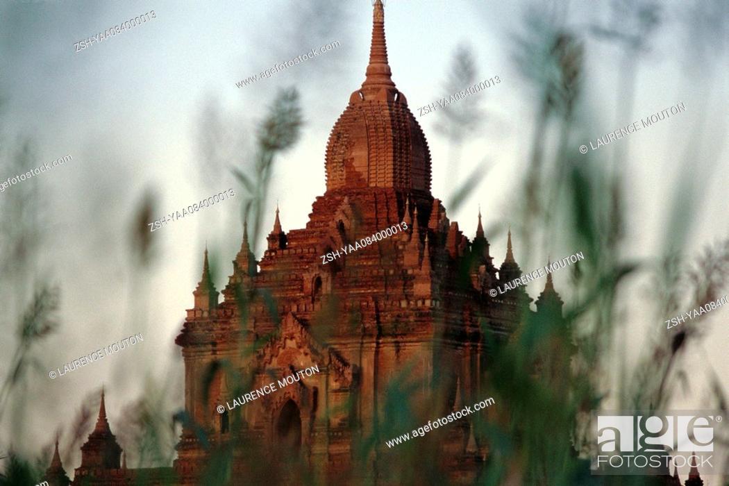 Stock Photo: Htilominlo Temple at Bagan, Myanmar.