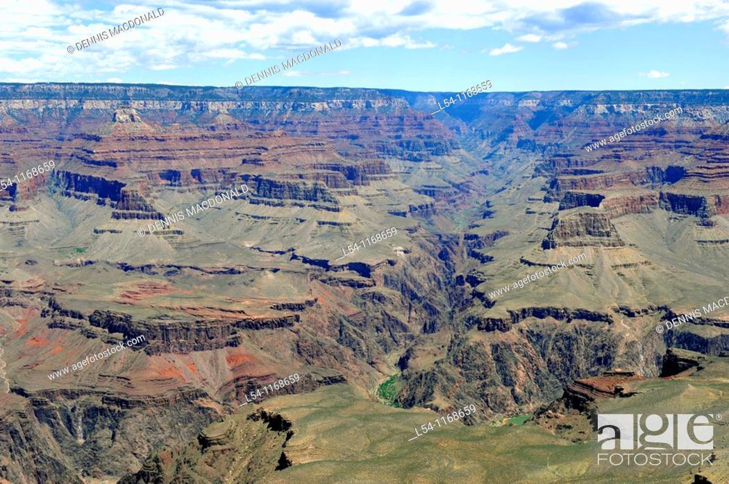 Stock Photo: Yavapai Observation Station Grand Canyon National Park Arizona.