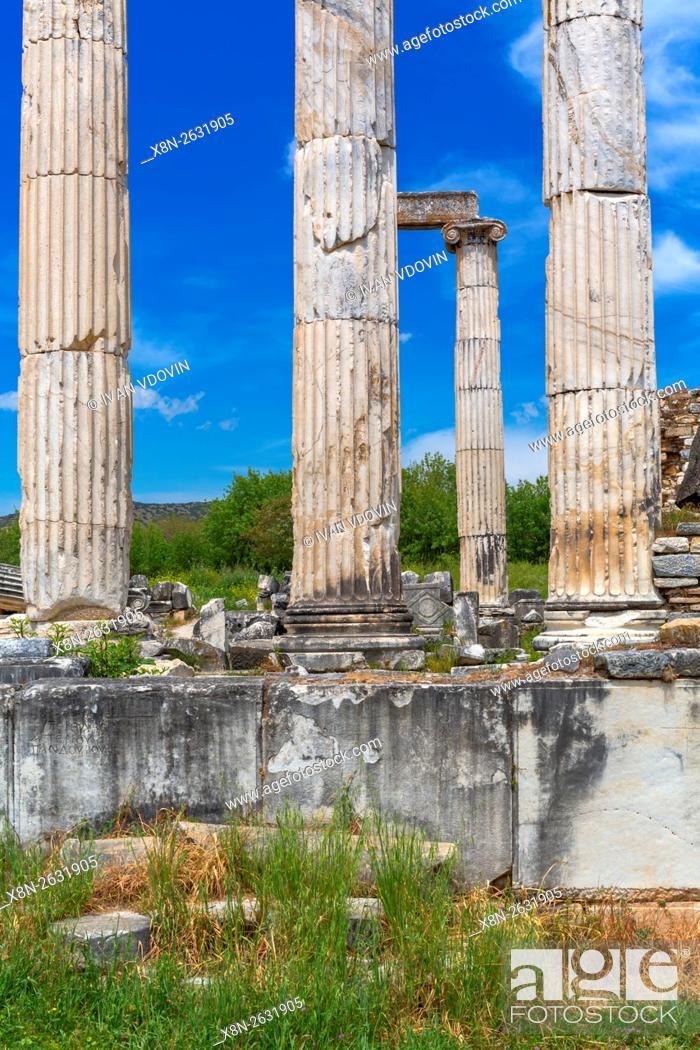 Stock Photo: Ruins of ancient Aphrodisias, Aydin Province, Turkey.