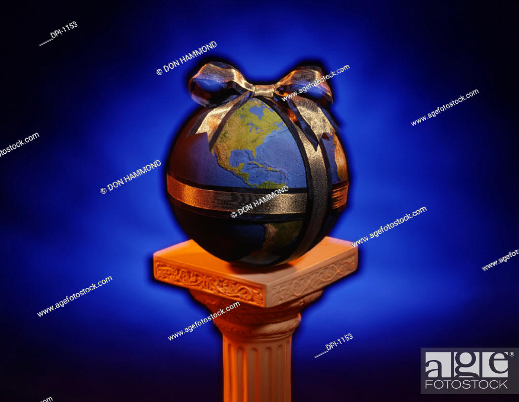 Stock Photo: Maps Globes & Flags.