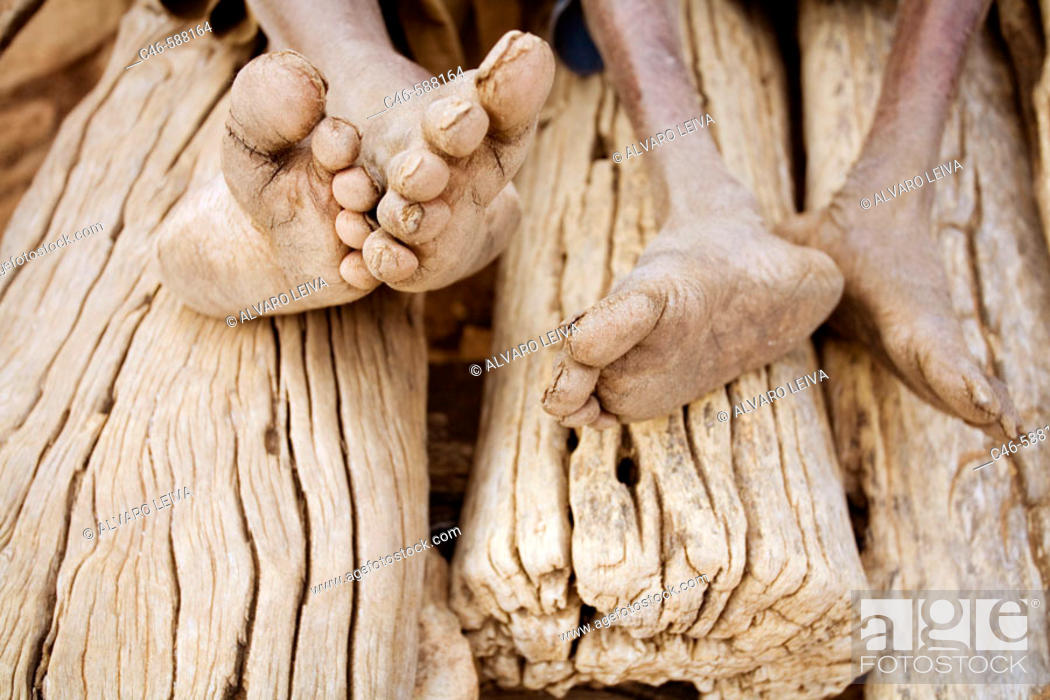 Stock Photo: Village of Songo, Dogon Country, Mali, Africa.