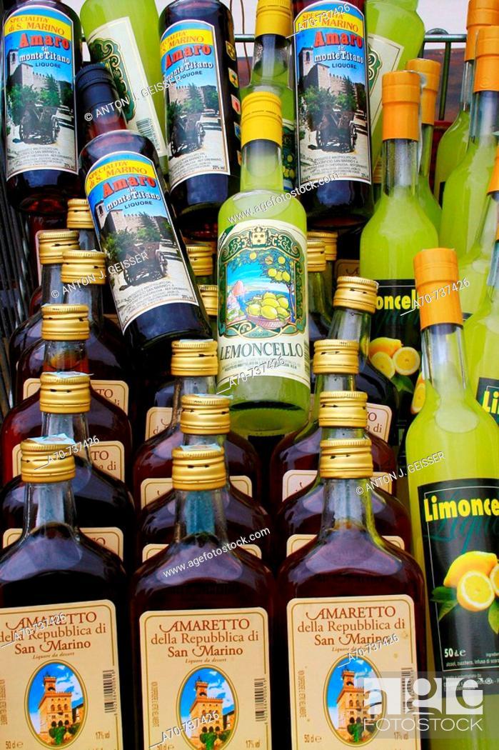 Stock Photo: Alcoholic drinks. Republic of San Marino.