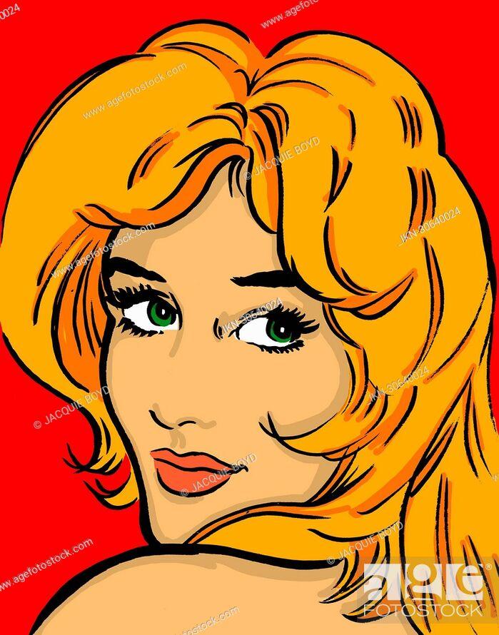 Imagen: Smiling, beautiful blonde woman.