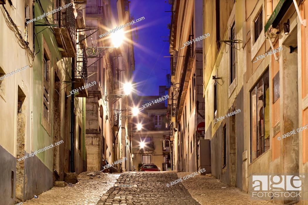 Stock Photo: Bairro Alto, Lisbon, Portugal, Europe.