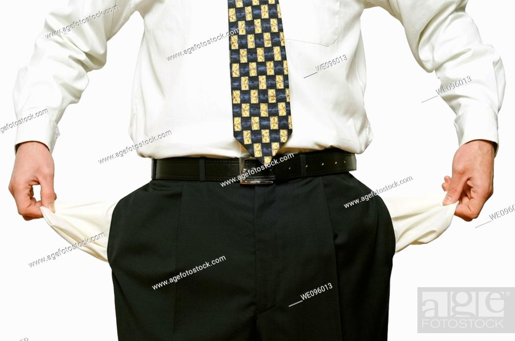 Stock Photo: Bankrupt Businessman.
