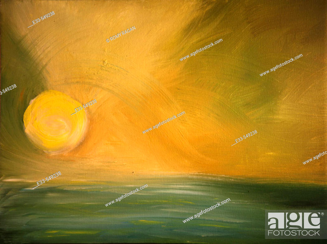 Imagen: 'Quiet Sea' 12 x 16' Acrylic on canvas 2003. Artist's collection.