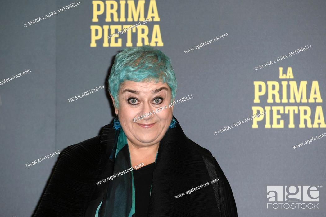 Imagen: Serra Yilmaz during the phptocall of film La prima pietra, Rome, ITALY-03-12-2018.