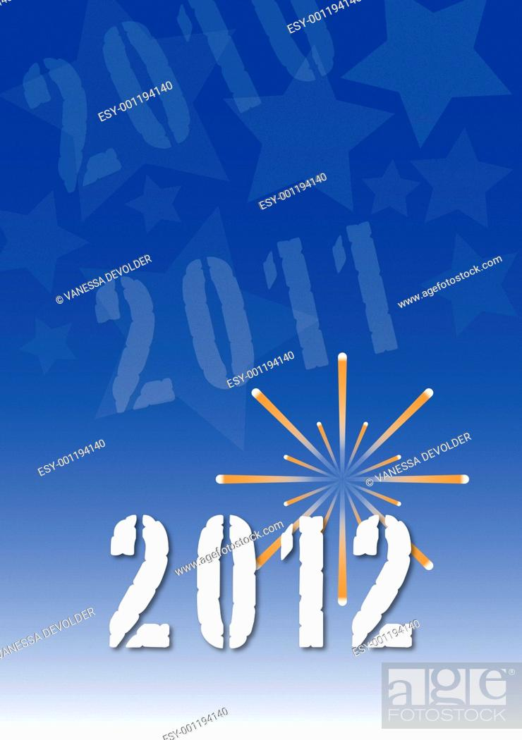 Stock Photo: Background with space for text and pictures  Theme: New Year 2012.