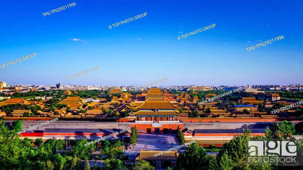 Stock Photo: Aerial view of The Forbidden city; Beijing; China.