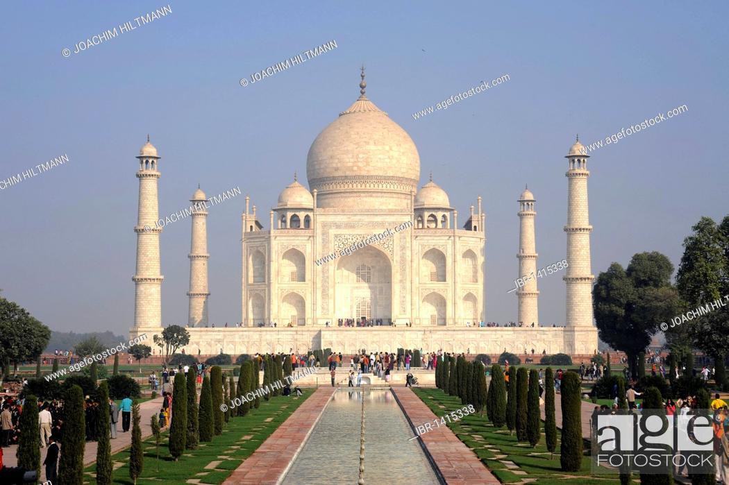 Stock Photo: Taj Mahal, UNESCO World Heritage Site, Agra, Uttar Pradesh, North India, India, South Asia, Asia.