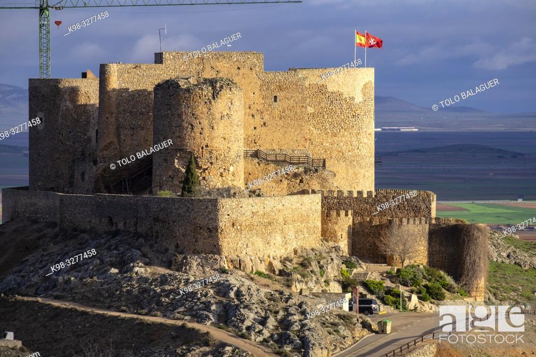 Imagen: castillo de la Muela, Consuegra, provincia de Toledo, Castilla-La Mancha, Spain.