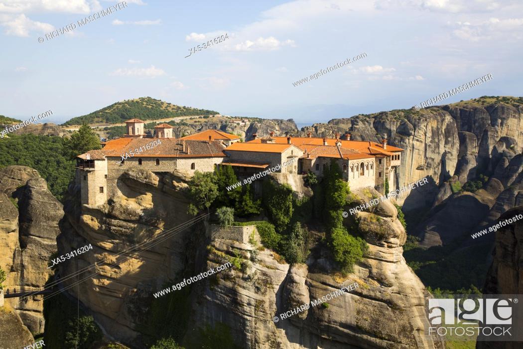 Stock Photo: Holy Monastery of Varlaam, Meteora, UNESCO World Heritage Site, Thessaly, Greece.