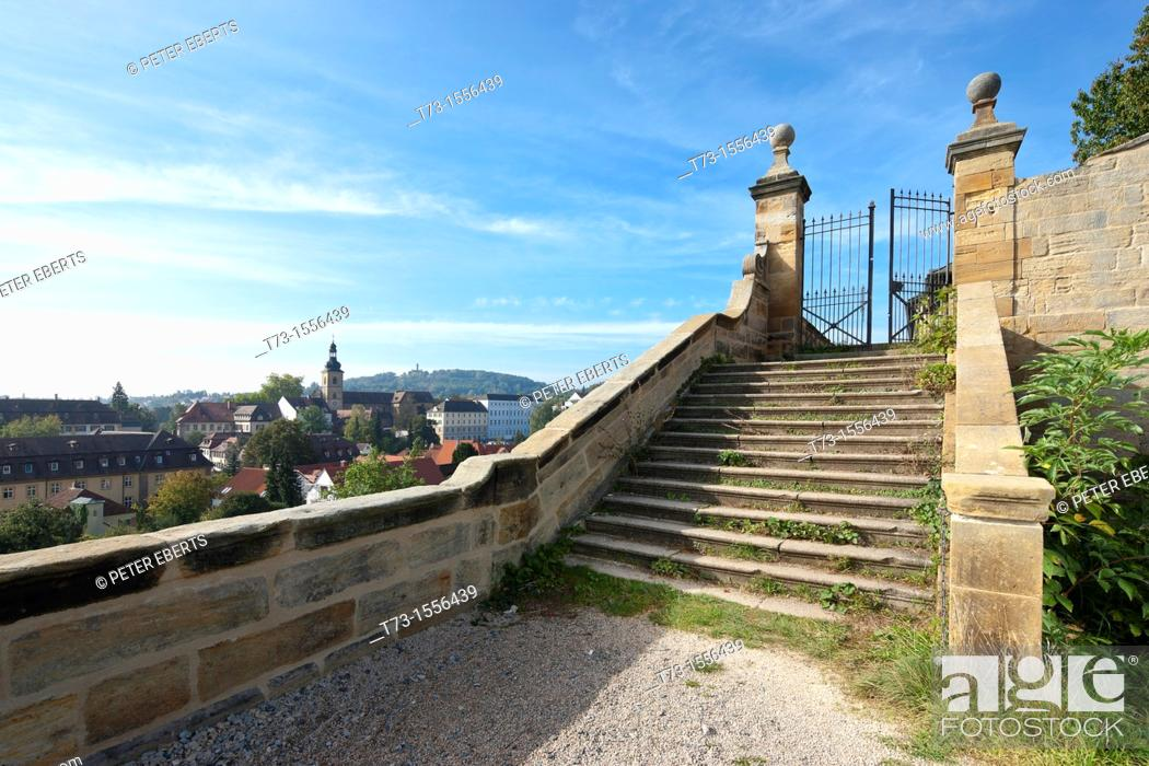 Stock Photo: St  Michael-View from Terrace to Bamberg.