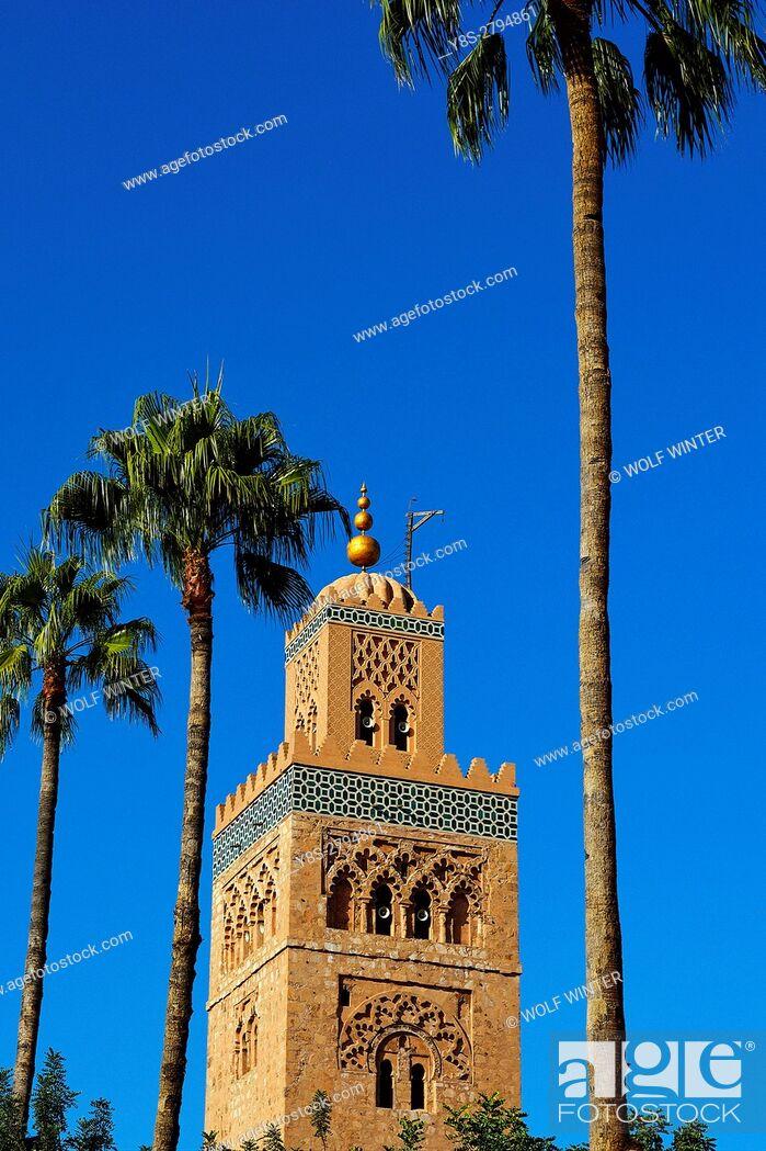 Stock Photo: Koutoubia Mosque, Marakesh, Morocco.