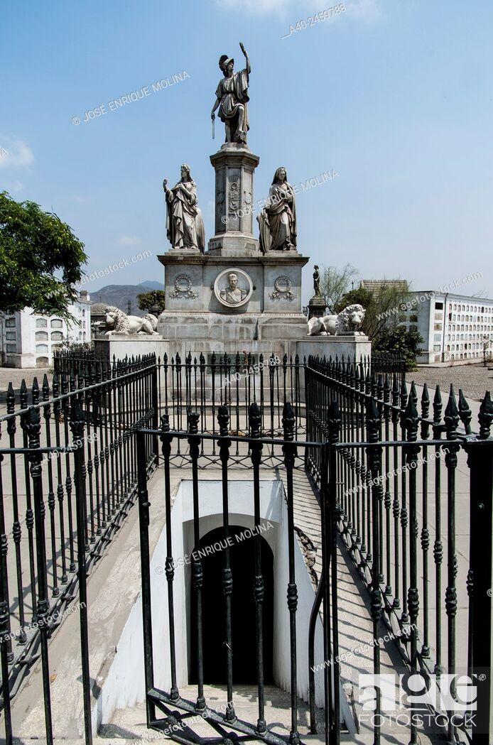 Stock Photo: Presbítero Maestro cemetery museum 1808. Lima city. Peru. Mausoleum of Ramón Castilla y Marquesado.