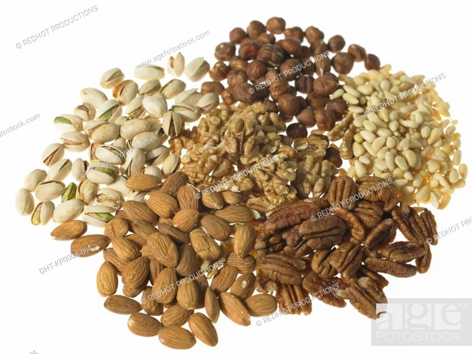Stock Photo: Various Mixed Nuts.