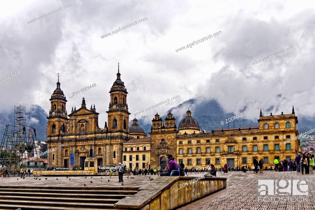 Stock Photo: La Candelaria, Bogotá, Colombia.