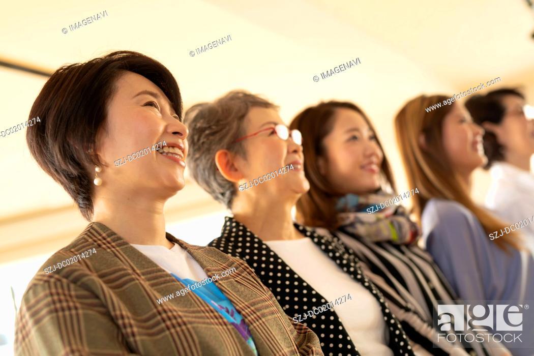 Stock Photo: Portrait of multi-generation five women.