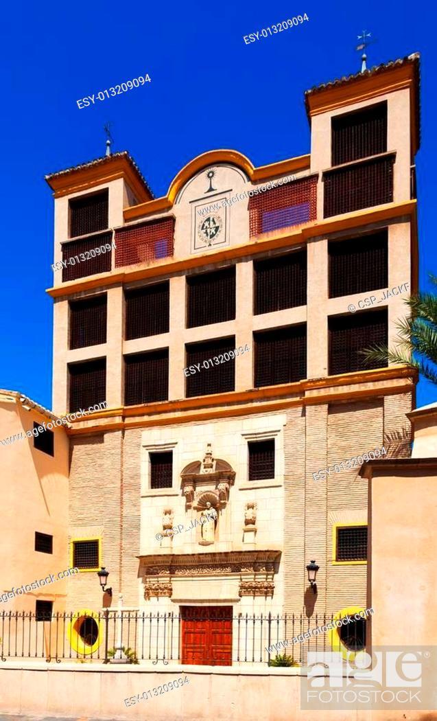 Stock Photo: Church and Monastery of Santa Clara la Real in Murcia.
