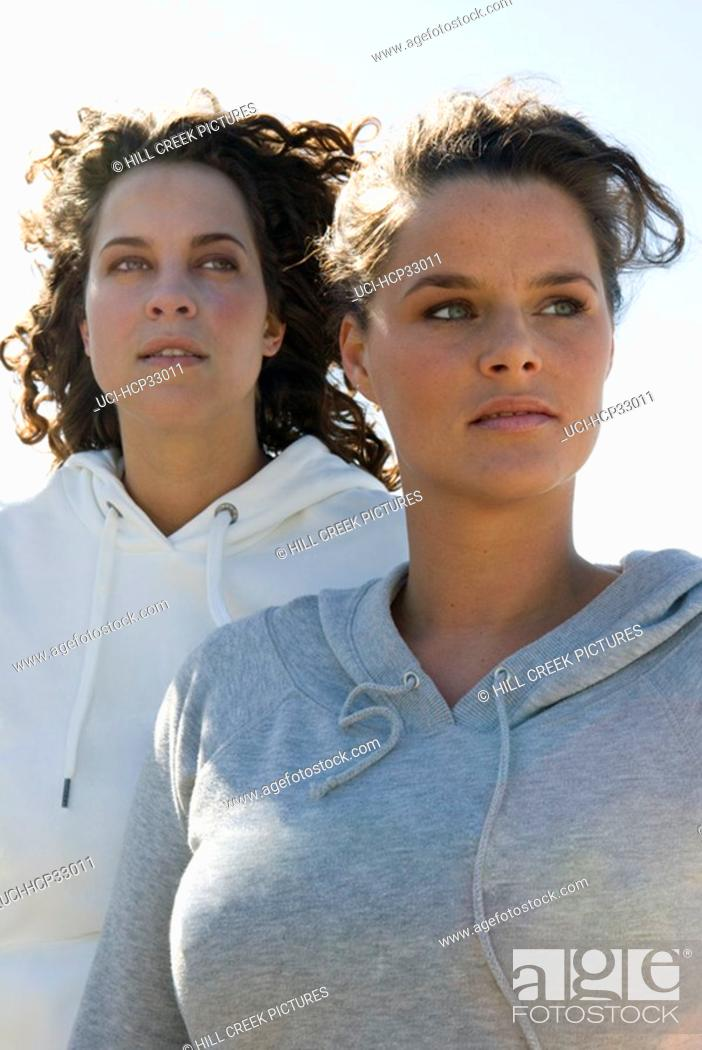 Stock Photo: Two women standing together.