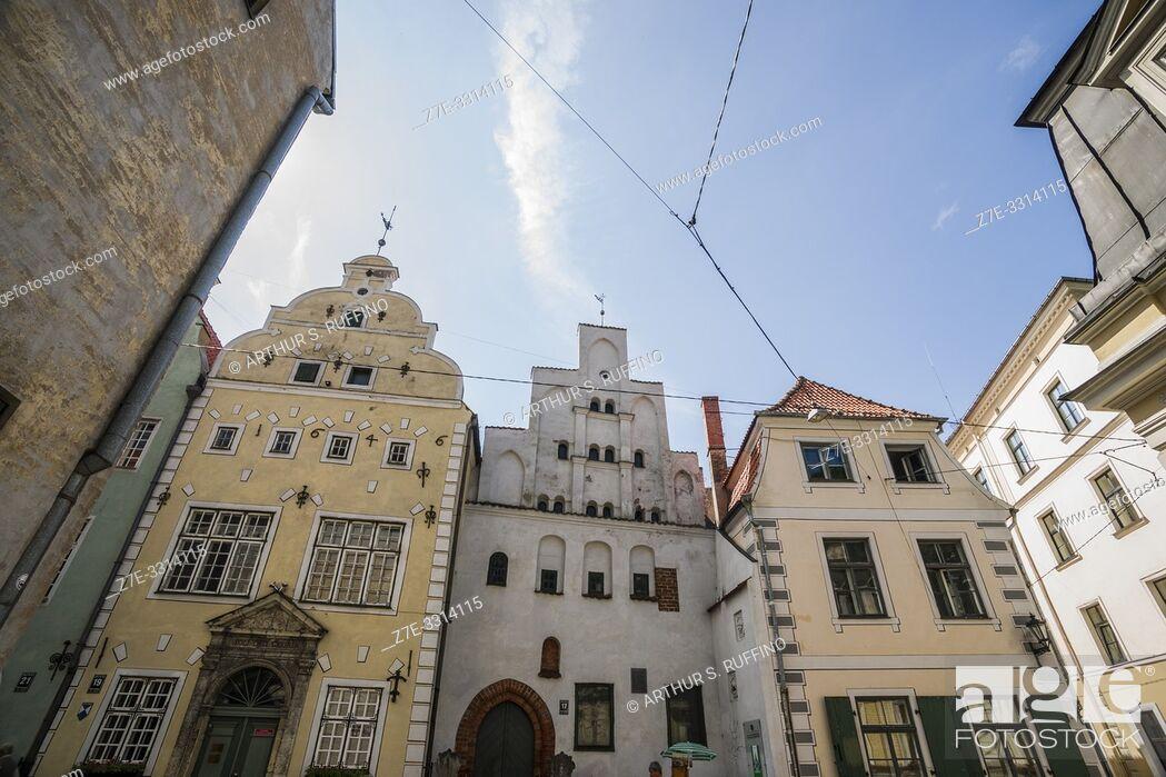 Stock Photo: The architecture of Riga. Old Town. Riga, Latvia, Baltic States, Europe.