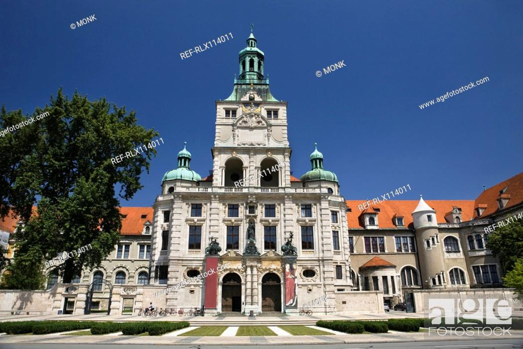 Stock Photo: National Museum in Munich, Bavaria, Germany.