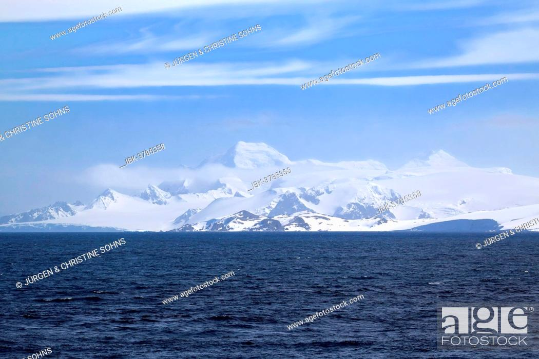 Stock Photo: Icy landscape, View Point, Weddell Sea, Antarctica.