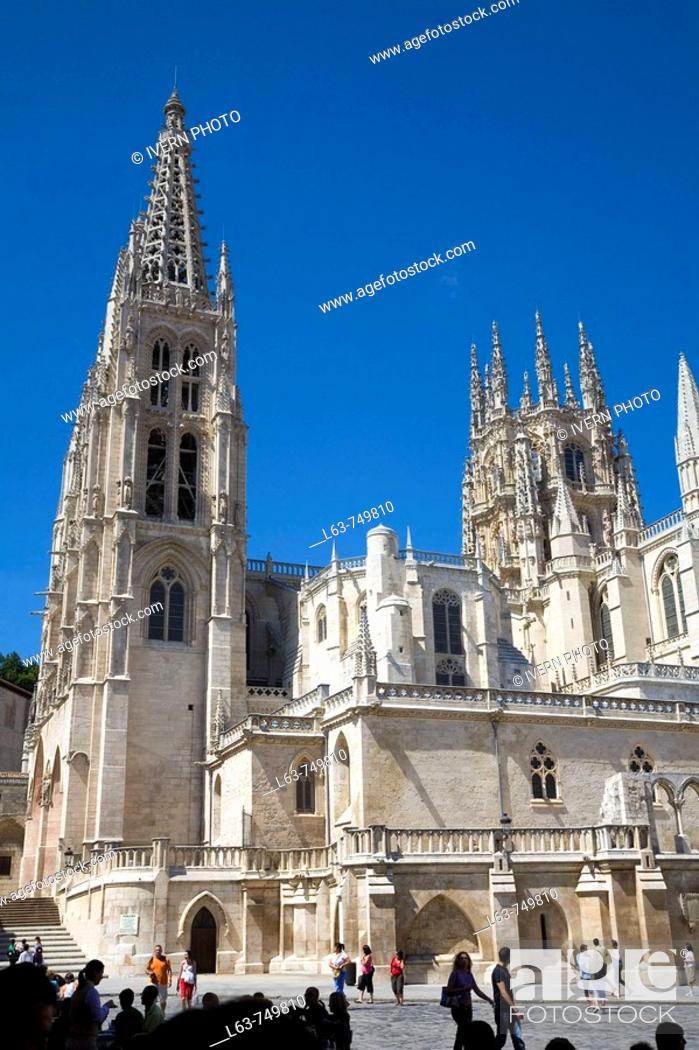 Stock Photo: Gothic cathedral (13th century). Burgos. Castilla-León. Spain.