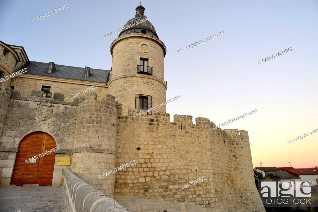 Stock Photo: Castle, archive of Simancas, Valladolid, Spain.