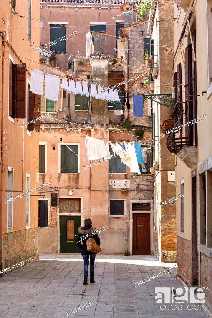 Stock Photo: Laundry in Castello district, Venice, Italy.