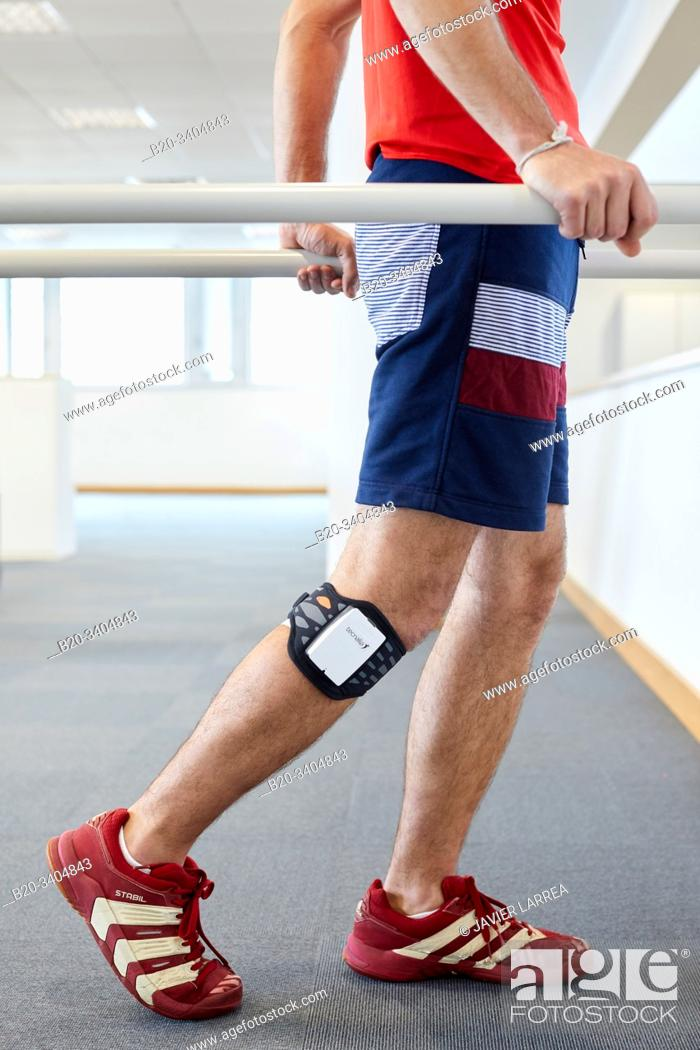 Stock Photo: Espert, Functional Electrical Stimulation Device (FES). Advanced technology for superficial electrical stimulation that allows selective neuromuscular.