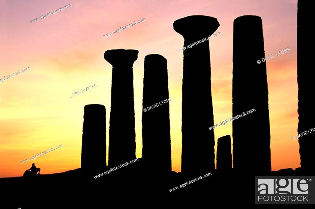 Stock Photo: Agrigento, Sicily, Italy  The Temple of Hercules in the ancient Greek Valley of Temples at Agrigento.