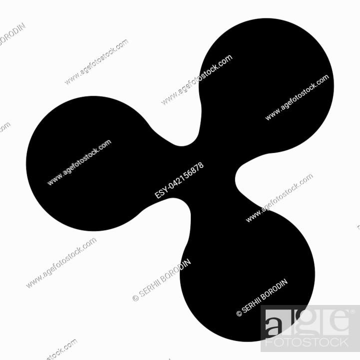 Stock Vector: Ripple icon black color vector illustration flat style simple image.