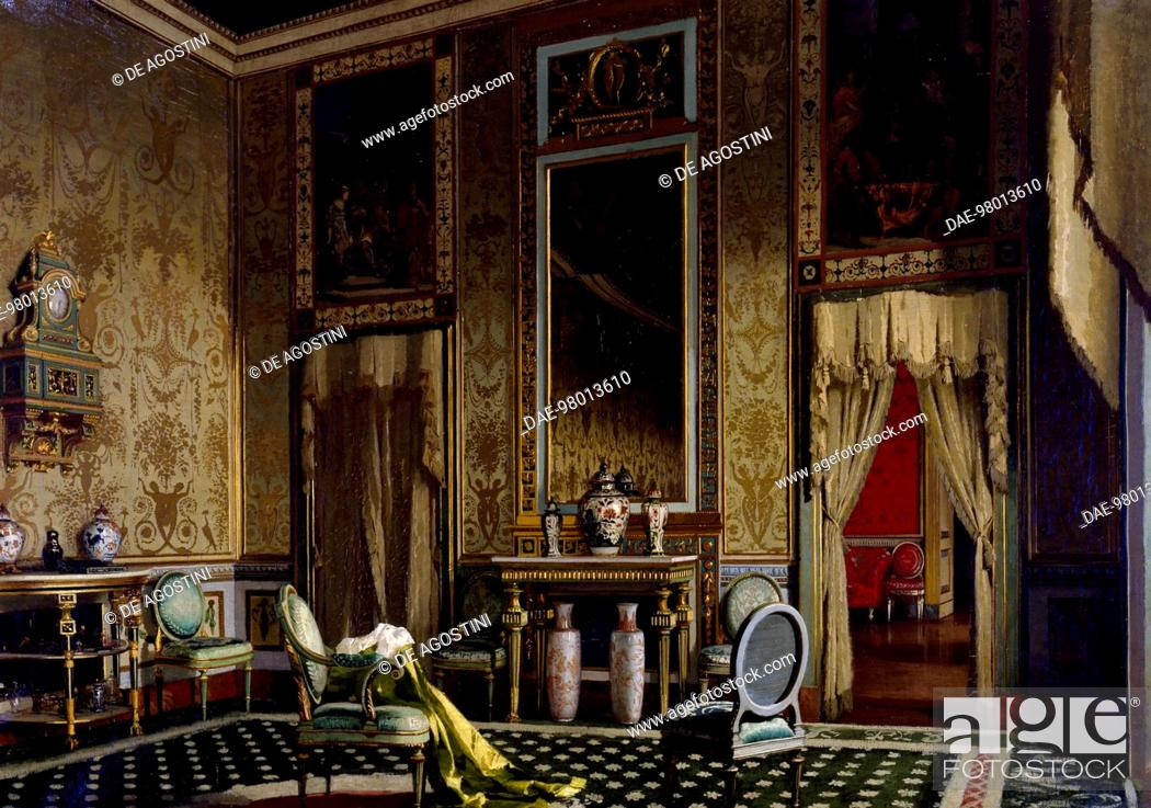 Stock Photo Empire Style Room Painting By Francesco Didioni 1839 1895 Oil On Canvas 62x88 Cm Milano Civiche Raccolte D Arte Museo Dell Ottocento