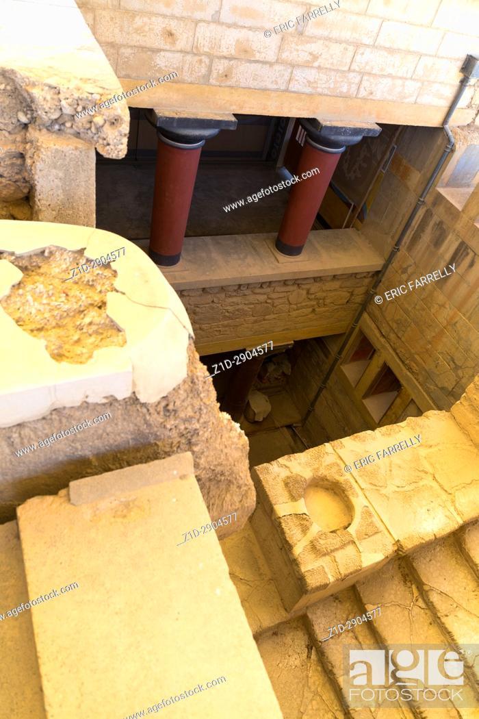 Stock Photo: Archeology. Knossos Palace circa1500 BC Crete Greece.