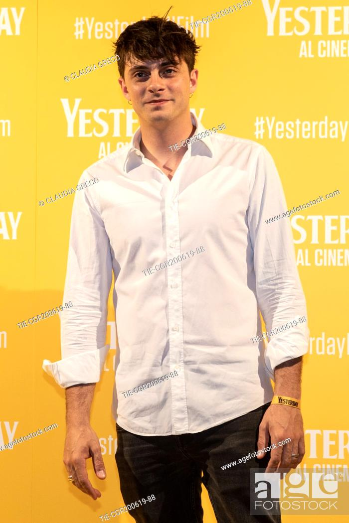 Imagen: Alessandro Casillo during the photocall of film ' Yesterday ' in Milan, ITALY-20-06-2019.