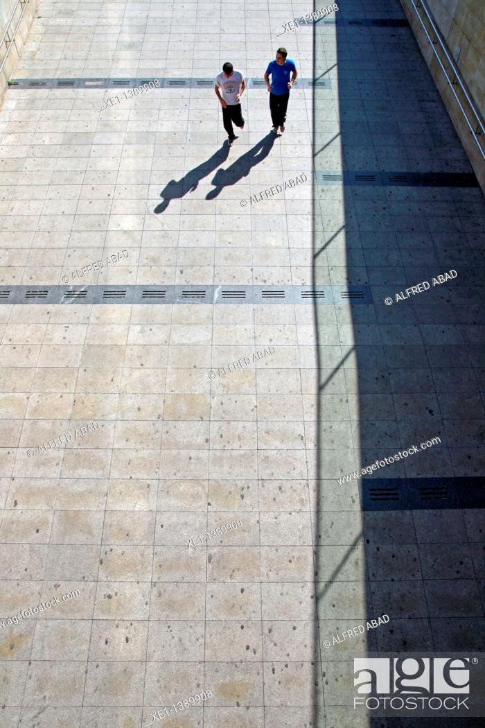 Stock Photo: acces to Llars Mundet underground stop, Barcelona, Catalonia, Spain.